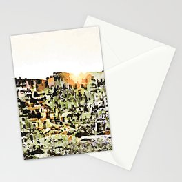 Sassi di Matera: view with sun Stationery Cards
