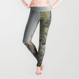 Plastic Wrap Cactus Leggings