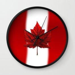 Canada Flag Souvenirs Wall Clock