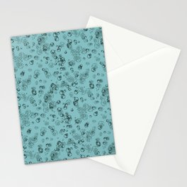 Arabidopsis protoplast cells microscopy pattern teal Stationery Cards