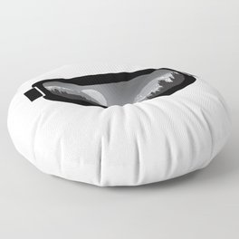 Moonrise Goggles - B+W - Black Frame | Goggle Designs | DopeyArt Floor Pillow