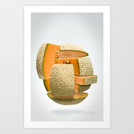 Flying Cantaloupe  Art Print