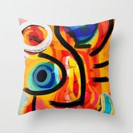 Abstract Art Good Energy Summer Vibes Throw Pillow