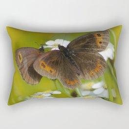 Summery Butterflies on Gold Rectangular Pillow