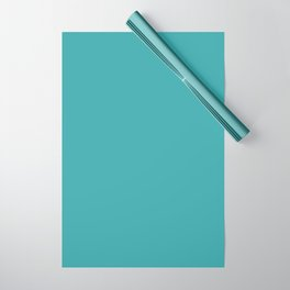 Best Selling Aqua / Teal / Turquoise Solid Color Pairs with Sherwin Williams Aquarium SW6767 Wrapping Paper
