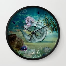 Cute little seahorse Wall Clock