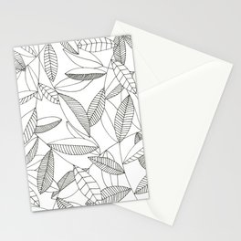 Inky Leaves Stationery Cards