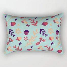 Avis Walnut Peanut Flower Pattern Rectangular Pillow