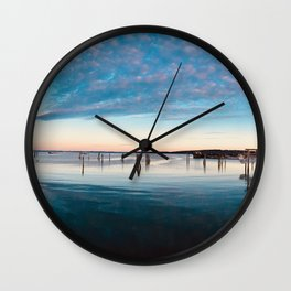 A Small Fishing Town Wall Clock