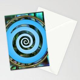 Paua Koru 2 Stationery Cards