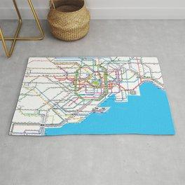 Tokyo Subway map Rug