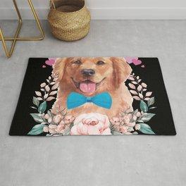Golden Retriever Paws Day Love Heart Dog Rug