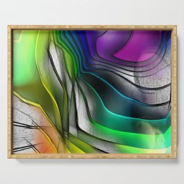 COLOR COVERGECE ABSTRACT Serving Tray