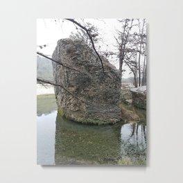 Concan River Rocks Metal Print
