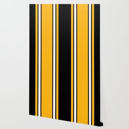 Pittsburgh Black And Yellow Abstract Wallpaper