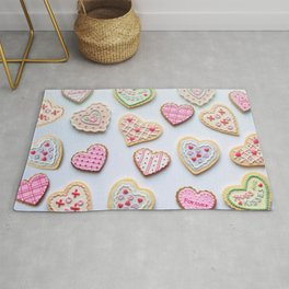 Valentine'S Day - Valentine - Cookies - Hearts - Love. Little sweet moments. Rug
