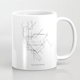 New York Subway Minimalist Map Coffee Mug