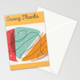 Give Thanks,Thanksgiving Greeting Card Stationery Cards