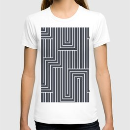 White & Dark Blue Art Decor Pattern 2 Inspired by 2020 Color of the Year  Classic Navy Blue T-shirt