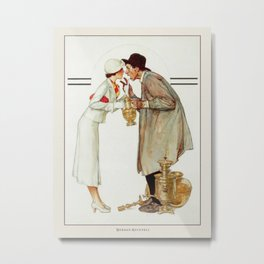 Vintage Poster-Norman Rockwell-Brass Merchant. Metal Print