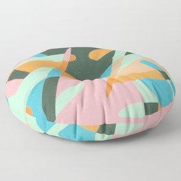 Monstera Leaves Floor Pillow