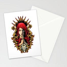 La Calavera Catrina Mourns The Dead - Santa Muerte Stationery Cards