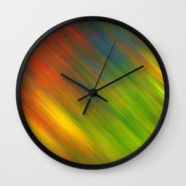 Diagonal Rainbow 3 Wall Clock
