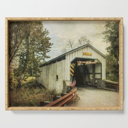 Keller's Mill Covered Bridge Serving Tray