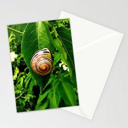 Snail on Leaf Stationery Cards