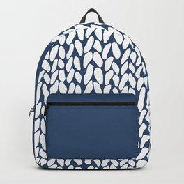 Half Knit Navy Backpack