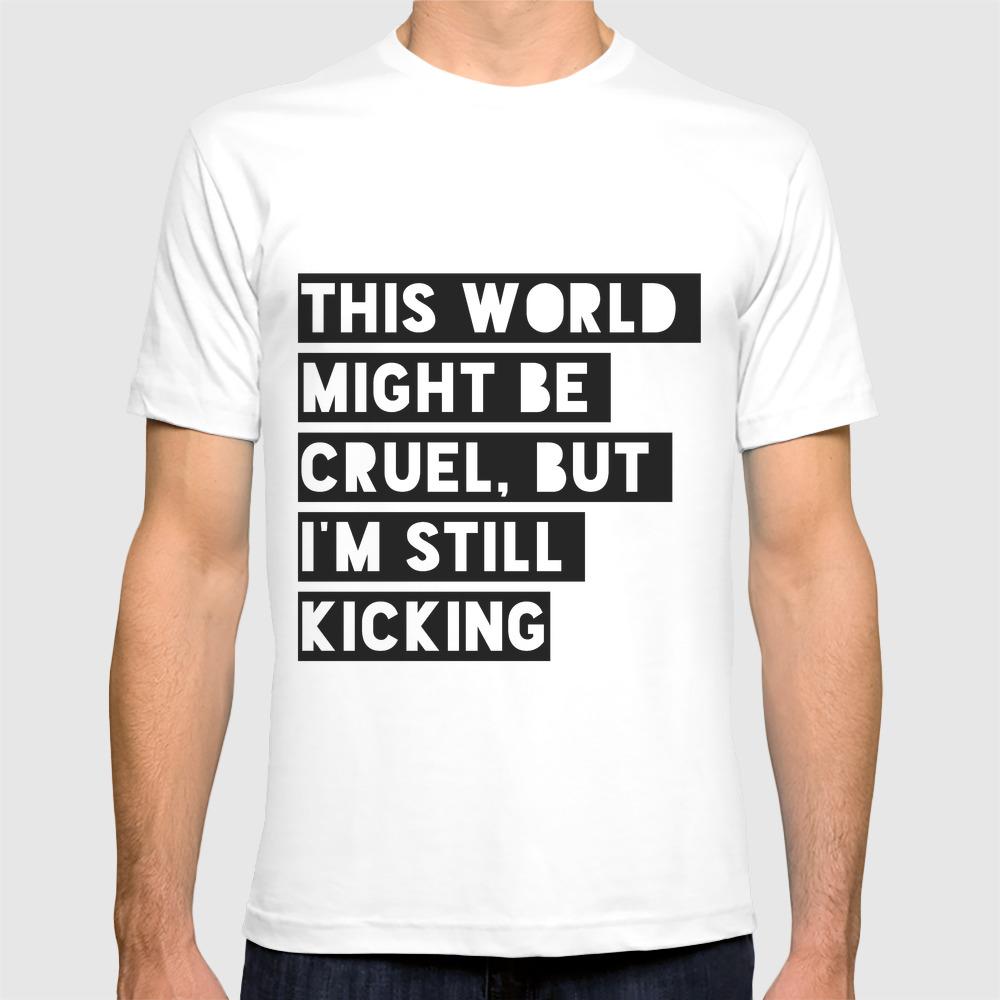 Still Kicking T-shirt by Spaceboyistaken TSR8026049