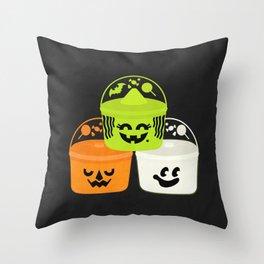 Boo Buckets Throw Pillow