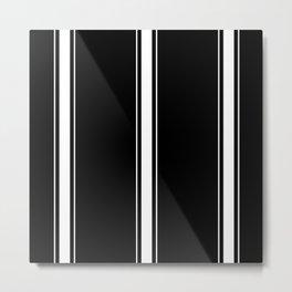 White And Black Stripes Metal Print