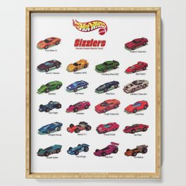 Redline Era 1960's Hot Wheels Sizzlers Advertising Vintage Toy Car Poster Serving Tray