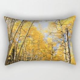 Golden Walk Through Aspen Lane Rectangular Pillow