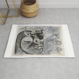 Pablo Picasso Bull Painting 1937 Artwork for Prints Posters Tshirts Bags Men Women Youth Rug