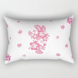 Hibiscus PINK Rectangular Pillow