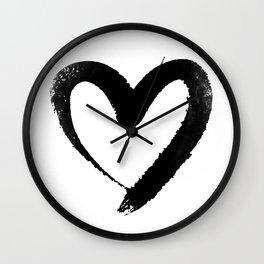 Ink Heart Minimal Fashion Stylish Wall Clock