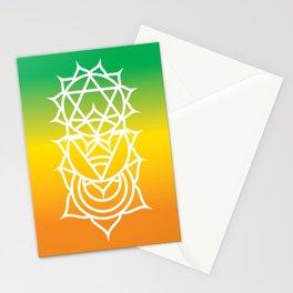 Sacral, Solar Plexus & Heart Chakra Intersection Stationery Cards