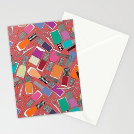 perfect nails pomegranate red Stationery Cards