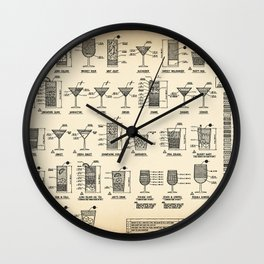 COCKTAIL poster vintage Wall Clock
