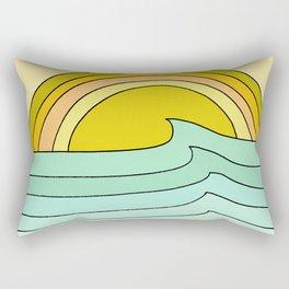 ride rainbows // retro surf soul // art by surfy birdy Rectangular Pillow