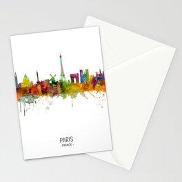 Paris France Skyline Stationery Cards