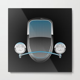 1930s Style Street Rod Car Grill Metal Print