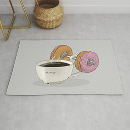 Strong Coffee Lifting Donut Dumbbell Rug