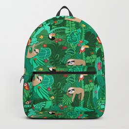 Sloths in the Emerald Jungle Pattern Backpack