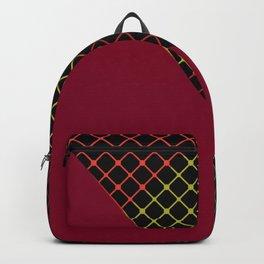 Cranberry Grid Backpack