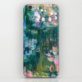 water lilies : Monet iPhone Skin