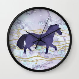 The Musical Horse Trotting Through the Rhythms of Nature Wall Clock