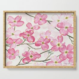 Pink Dogwood Serving Tray